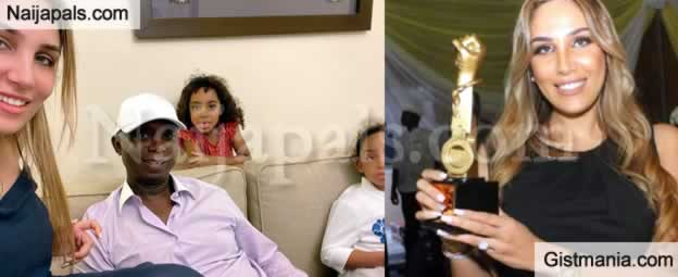 Ned Nwoko's Senior Wife, Laila Charani Receives Award For Him While He Is With Regina Daniels