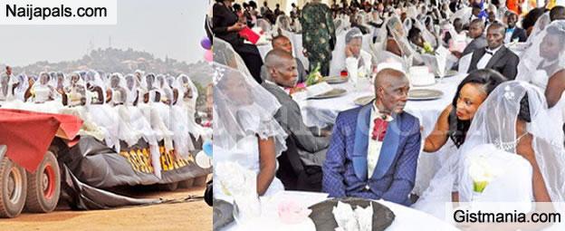 200 Brides Joyfully Ride a Trailer to Their Mass Wedding in Uganda (Photos)