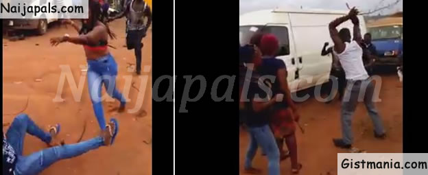 Two Edo Girls Fight Dirty Over Man, Exposing Their Nak3d B00bs (PHOTOS)