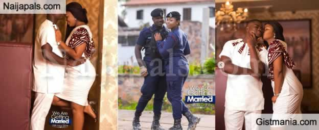 Beautiful Pre-wedding Photos Of Two Ghanaian Police Officers