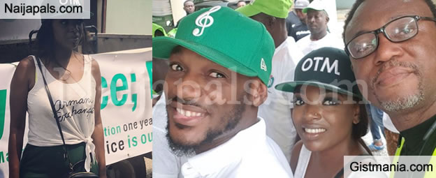 Annie Idibia Pictured With Hubby, 2Face & Banky W Campaigning To Mobilize For Voters Registration