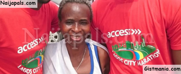 Check Out Photo Of 68-Year-Old Woman Who Completed The Lagos 42km Marathon Race Today