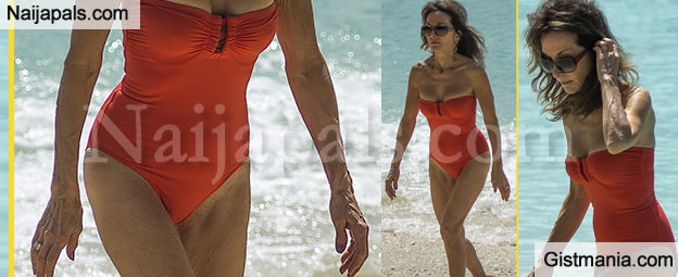 WOW! Check Out This 71-year-old Woman In A Red Bikini (Photos)