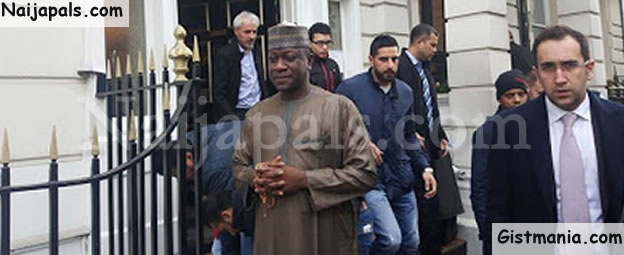 Embattled Lawmaker, Jibrin Attends Prayers In A London Mosque, Nigerians React (Photos)