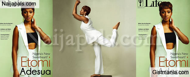 PHOTOS - Nollywood Actress, Adesua Etomi Graces The Cover Of Guardian Life Magazine's Latest Issue