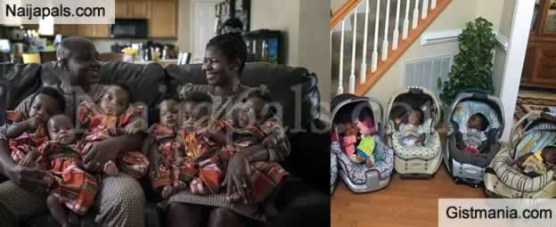 Nigerian Couple, Ajibola and Adeboye Taiwo Gives Birth To Sextuplets After 17 Years Of Bareness
