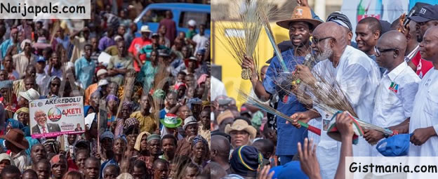 Ondo Shuts Down as APC Guber Candidate, Akeredolu Flags Off Political Campaign (PHOTOS)