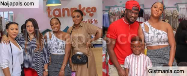 Peter Okoye's Wife, Anita Okoye Officially Opens Children Clothing Apparel Store 'Tannkco'