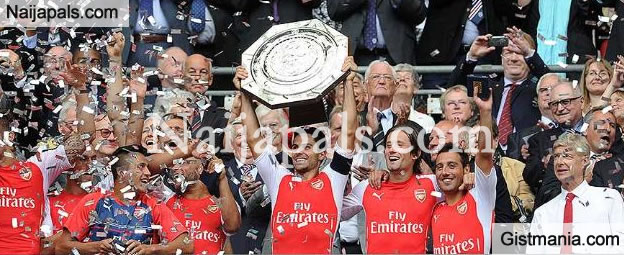 Congratulations To All Gunners Fans: Arsenal Defeat Chelsea With 1-0 To Lift Community Shield