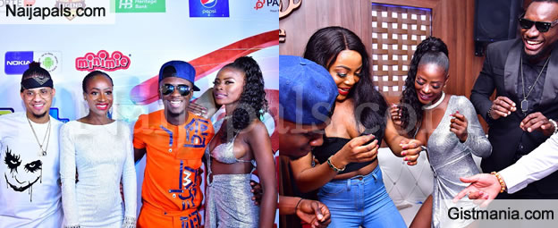 #BBNaija: Evicted Housemates, Lolu, Anto, Rico Swavey & Khloe Stun At Their Homecoming Party (PICS)