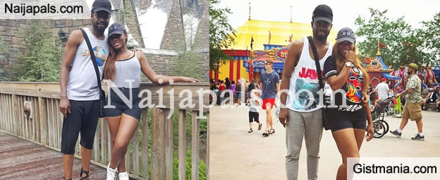 Photos: Check Out Basketmouth & Wife Having Fun In The US