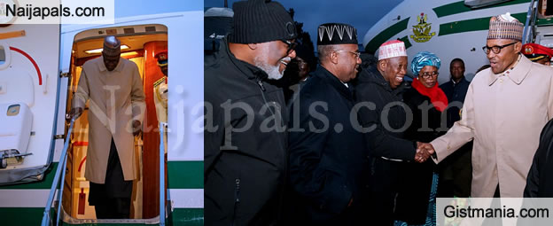President Buhari Arrives Paris Ahead Of One Planet Summit (Photos)