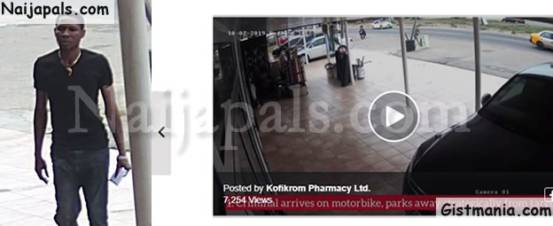 CCTV Captures Moment Man Enters A Pharmacy, Boldly Steals 2 Mobile Phones And Runs Away (Video)
