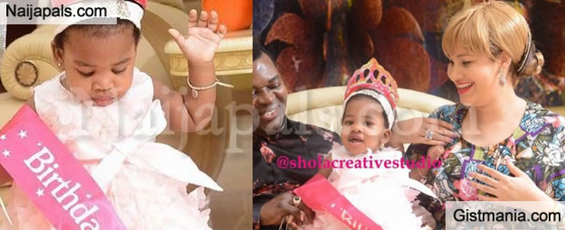 PIX: Actress Caroline Danjuma & Husband Celebrates The 1st Year Birthday Of Their Daughter Elizabeth