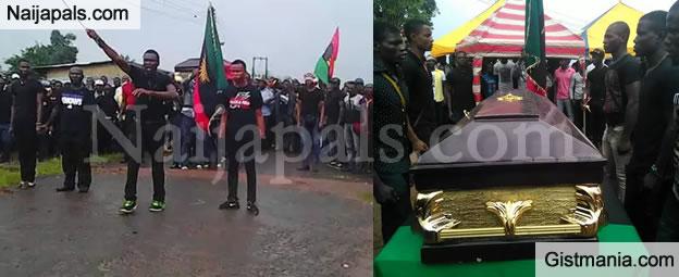 PHOTOS: Burial Photos Of Chikaodi Uka Ume, Man Killed During Biafran Protest In Aba