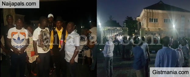 See How Crowd Gather At Ayiri Emami's Residence For His Birthday Celebration - Photos