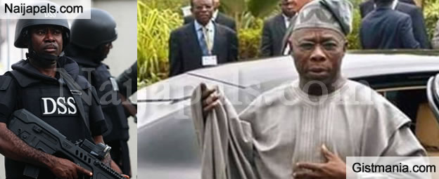 DSS And Other Security Operatives Barricade Otta Farmland To Arrest Ex President Obasanjo