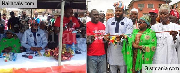 Hon. Desmond Elliot Gives Away Keke Napep To Elderly Persons In Lagos - Photos