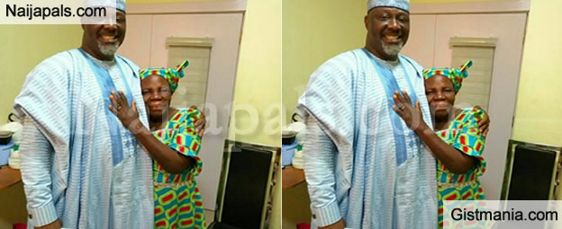 "Her Hand On His Chest Says ""DON'T WORRY SON, I GOT YOU"" - Sen. Dino Melaye Shares Photo Of His Mum"