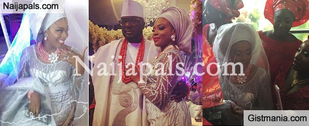 WOW! Photos From Blushing Bride Dolapo Oni And Her Hubby Prince Adegbite Sijuwade's Wedding (Photos)