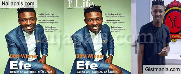 PICS: 'Based On Logistic' Crooner, Efe Looks Dapper As He Graces The Cover Of Guardian Life Magazine
