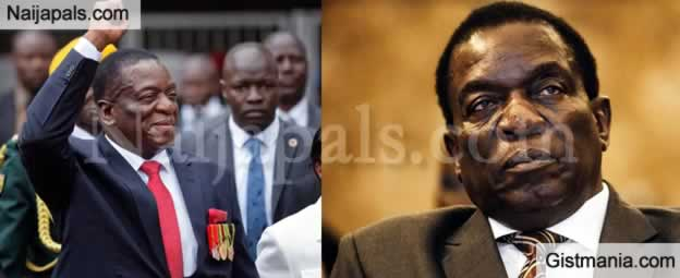 Zimbabwean President, Emmerson Mnangagwa Narrowly Escapes Bomb At Party Rally (Video)