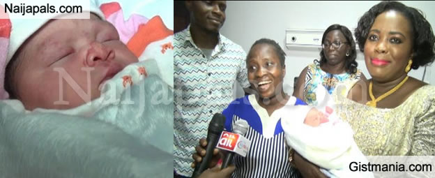 First Photos Of Ese Oruru's Baby With Yinusa Yellow (All The Family Is Happy!)