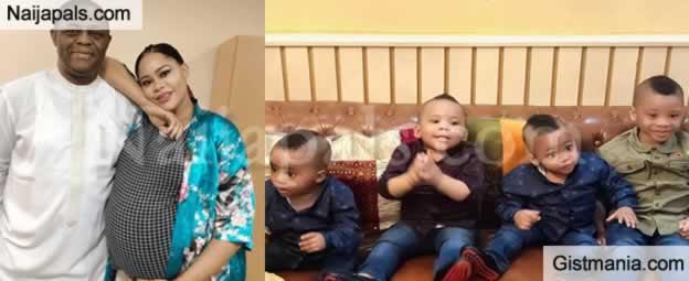 Femi Fani-kayode's Quadruplets, Aragorn, Ragnar, Aiden & Liam Rock Marching Mohawk Hairstyle