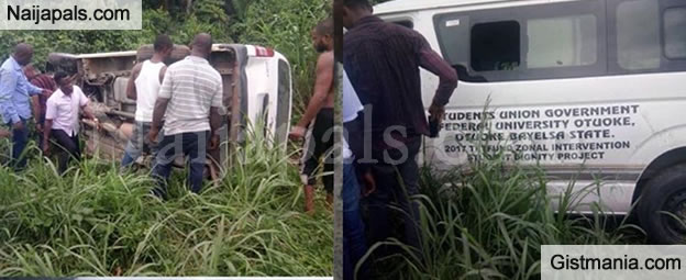 SUG Members From Federal University Otuoke Survive Ghastly Accident (Photos)