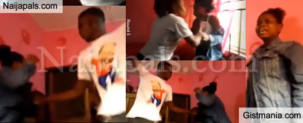 Group Of FUTA Students Filmed Beating A 100L Female Student Mercilessly In Her Room (VIDEO)