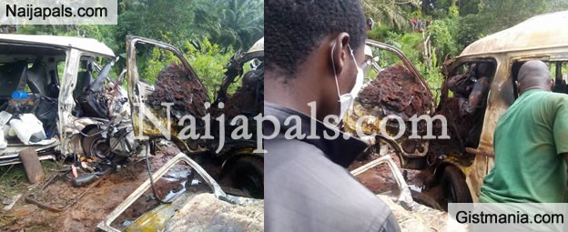 SHOCKING: Fifteen Persons Burnt To Death, Many Injured In Enugu Motor Crash