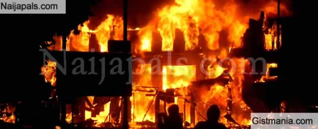 Breaking! Another Fire Outbreak Destroys Properties In Omagba Phase 2, Onitsha (Video)
