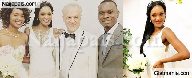 Former Miss Uganda Aisha Salma Nassanga Weds Her Handsome Older White Lover In The US (Pix)