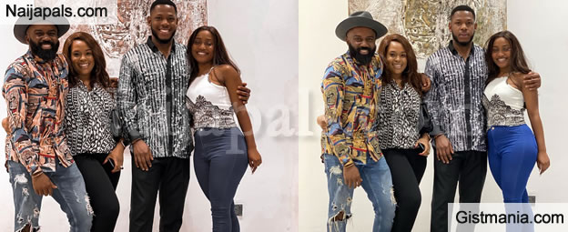 PHOTOS: Former BBNaija Partners, Frodd And Esther Hosted By Noble Igwe And Wife, Chioma