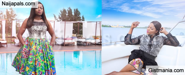 Funke Akindele Looks Adorable As The New Face Of Womenswear Brand Ayo Van Elmar - Photos