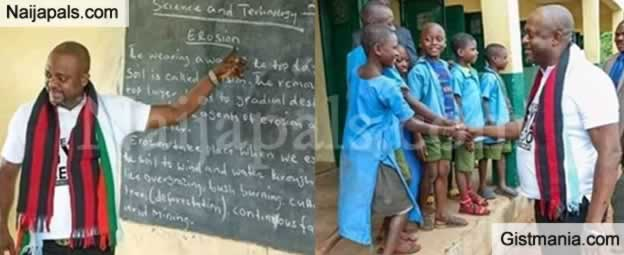 PHOTOS: Kogi State Governor Uses Badly Dressed Children Of The Poor For Election Campaign