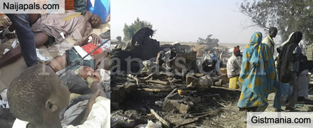 Photos Of The IDP Camp That Was Bombed By Nigerian Air Force .... BY MISTAKE!