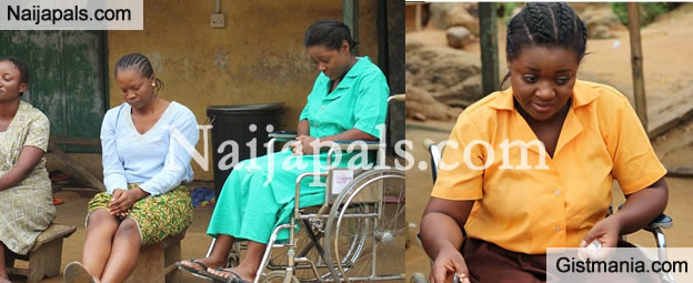 Photos: Actress Jackie Appiah Plays The role Of A Crippled Student In Upcoming New Movie