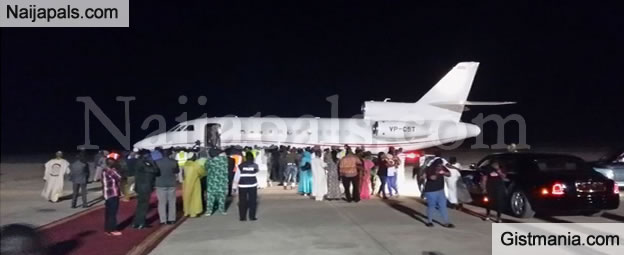 Ex-Gambian President, Yahya Jammeh Arrives Airport For His Departure (Photos)