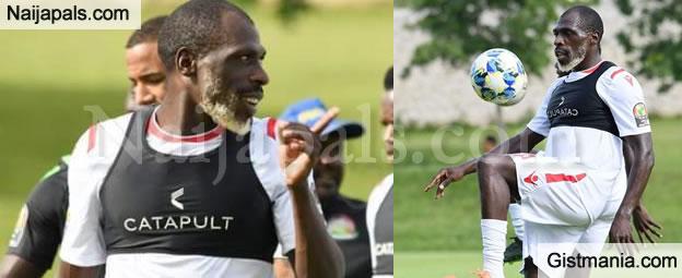 AFCON2019: Photo Of 26 Year Old Kenyan Footballer, Joash Onyango That Has Got People Talking