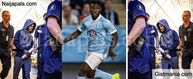 Ghanaian Footballer, Kingsley Sarfo Who Was Jailed In Sweden For Rape Has Been Released & Deported