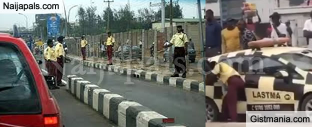 Man And His Wife Serioulsly Beat LASTMA Officer Trying To Wrongfully Arrest Them (Video)