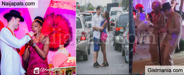 Nigerian Lady & Her Spanish Fiance Who Took Their Pre-Wedding Pics In Lagos Traffic Finally Wed -Pix