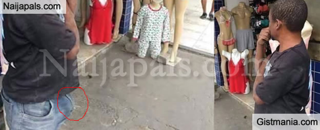 SMH: Man Turns On Just By Looking At Mannequins Wearing Lingeries At A Boutique (Photo)
