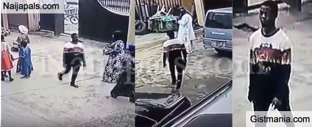 Watch As Man Walks Into A Church In Lagos, Steals A Bag During Service – VIDEO