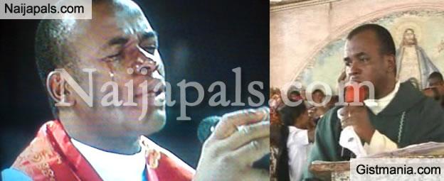 Buhari Extols Jonathan's Arc Enemy, Father Mbaka On His Birthday