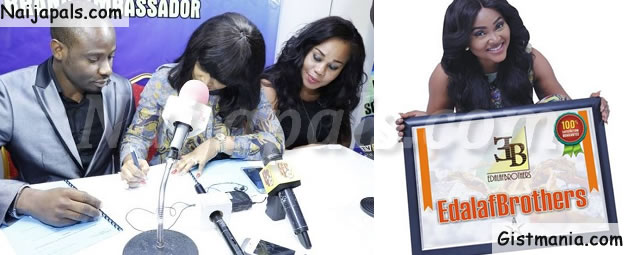 Nollywood Actress, Mercy Aigbe Signs Mega deal With With ICT Company (PHOTOS)