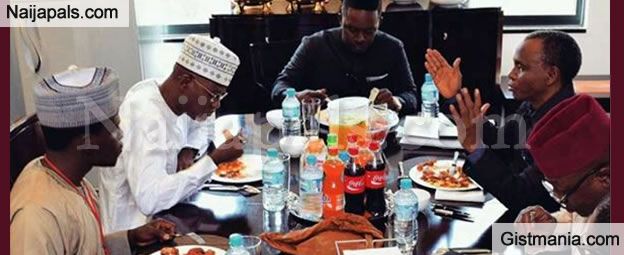 Rapper MI Abaga Wine And Dine With Governor El Rufai - Photo