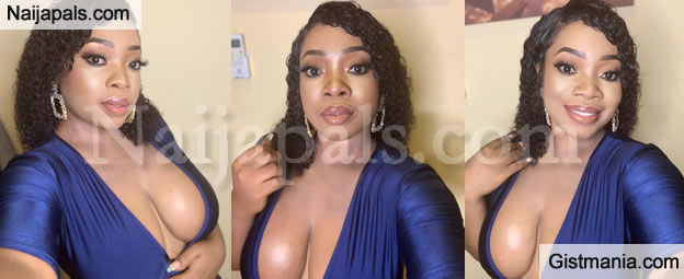 Curvy Actress, Moesha Boduong Shows Off Her Eye-Popping B00bs In Revealing Outfit (Photos)