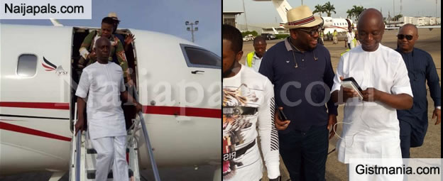 Actress Regina Daniels' Husband, Ned Nwoko And His Team Land In Asaba In 3 Private Jets - PHOTOS